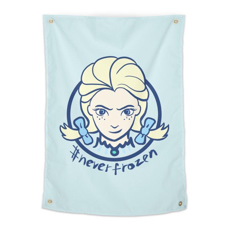 #neverfrozen Home Tapestry by dZus's Artist Shop