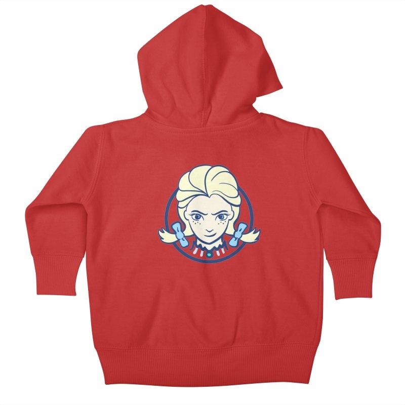 #neverfrozen Kids Baby Zip-Up Hoody by dZus's Artist Shop