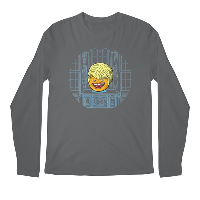 Annoying Orange in the White House Men's Longsleeve T-Shirt by dZus's Artist Shop