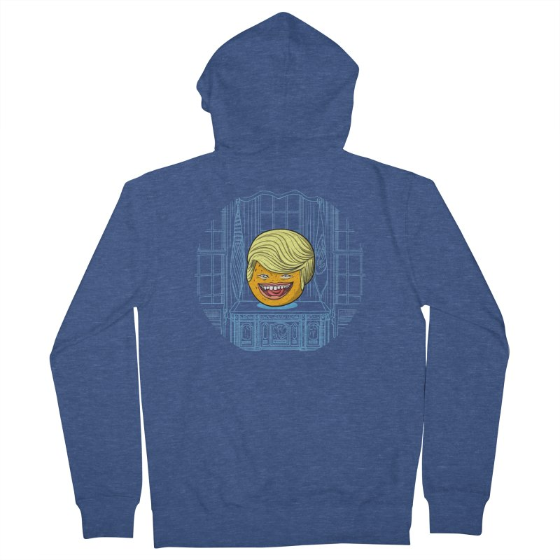 Annoying Orange in the White House Women's French Terry Zip-Up Hoody by dZus's Artist Shop
