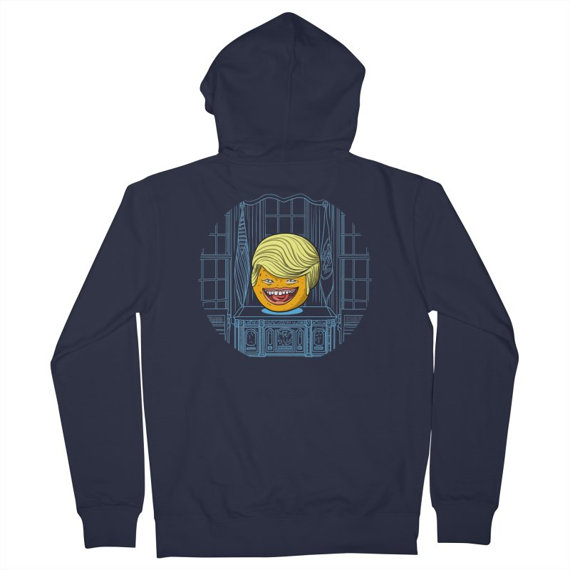 Annoying Orange in the White House Men's Zip-Up Hoody by dZus's Artist Shop