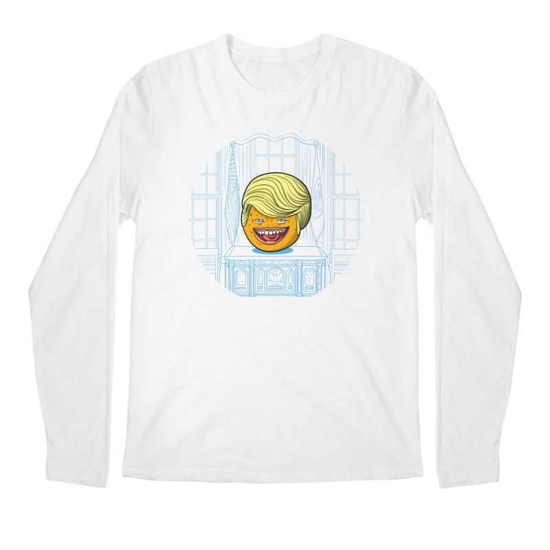 Annoying Orange in the White House Men's Regular Longsleeve T-Shirt by dZus's Artist Shop