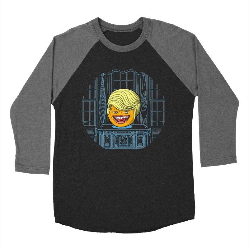 Annoying Orange in the White House Men's Baseball Triblend Longsleeve T-Shirt by dZus's Artist Shop