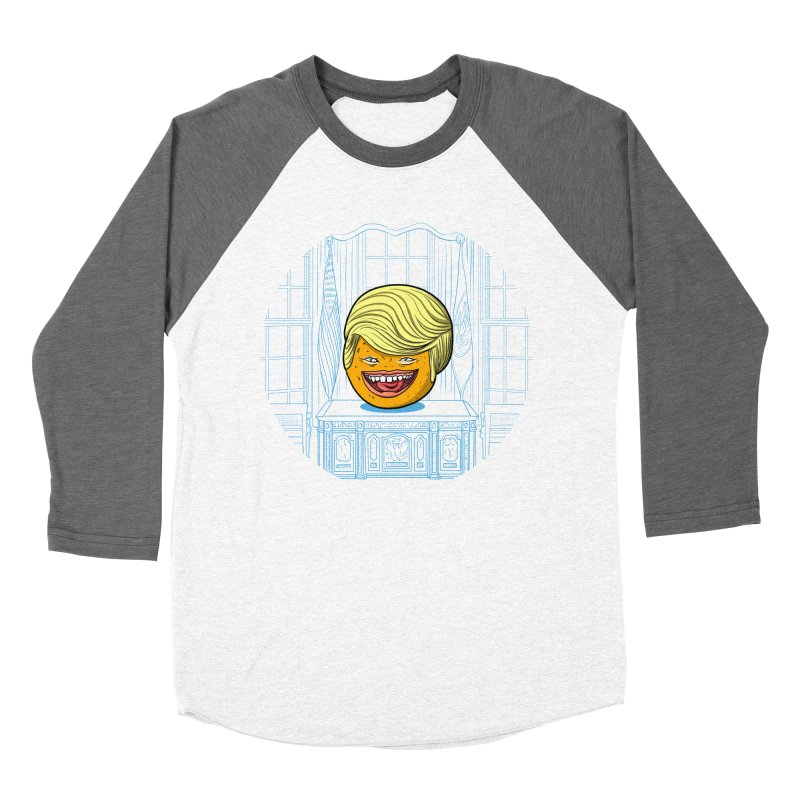 Annoying Orange in the White House Men's Baseball Triblend T-Shirt by dZus's Artist Shop