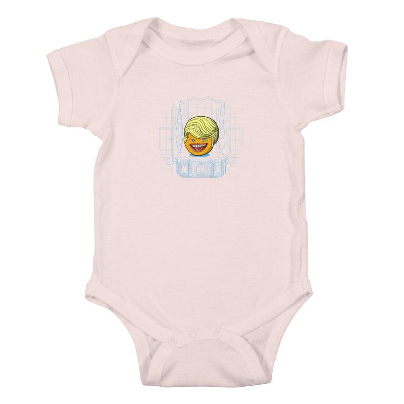 Annoying Orange in the White House Kids Baby Bodysuit by dZus's Artist Shop
