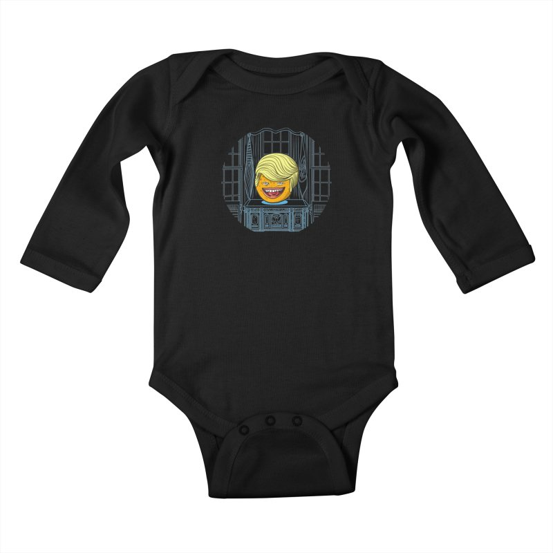 Annoying Orange in the White House Kids Baby Longsleeve Bodysuit by dZus's Artist Shop