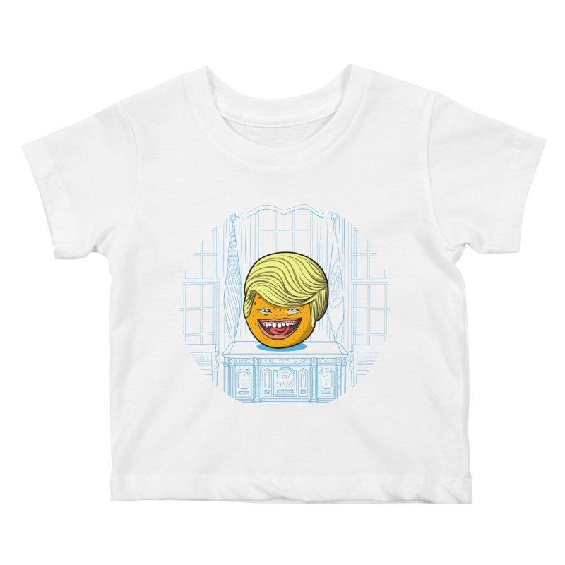 Annoying Orange in the White House Kids Baby T-Shirt by dZus's Artist Shop