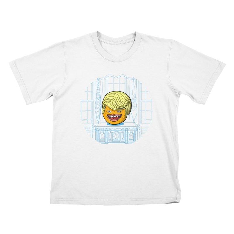 Annoying Orange in the White House Kids T-Shirt by dZus's Artist Shop