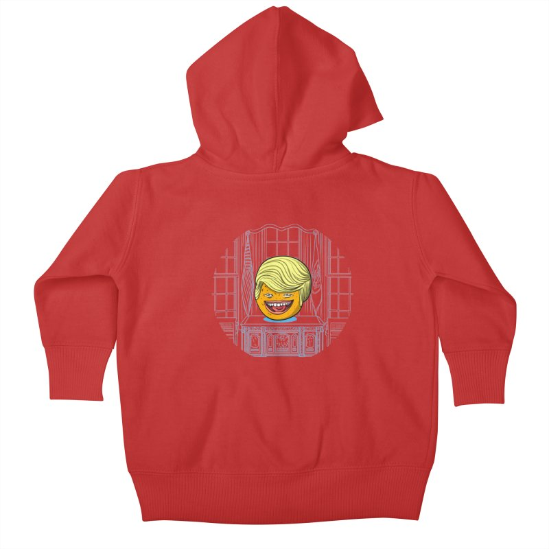Annoying Orange in the White House Kids Baby Zip-Up Hoody by dZus's Artist Shop