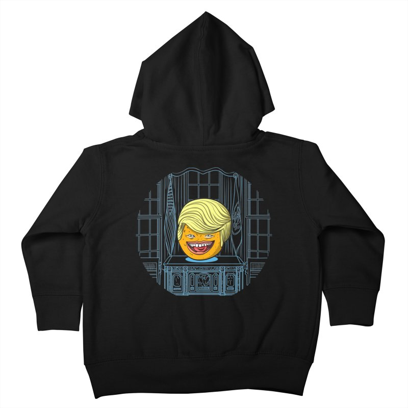 Annoying Orange in the White House Kids Toddler Zip-Up Hoody by dZus's Artist Shop