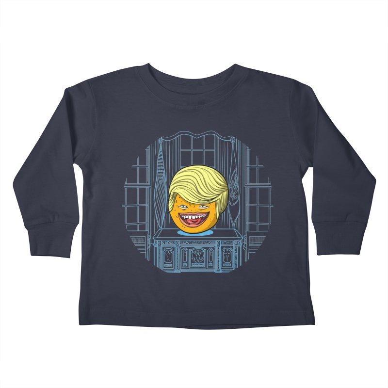 Annoying Orange in the White House Kids Toddler Longsleeve T-Shirt by dZus's Artist Shop