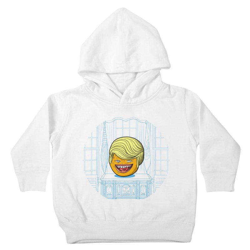 Annoying Orange in the White House Kids Toddler Pullover Hoody by dZus's Artist Shop