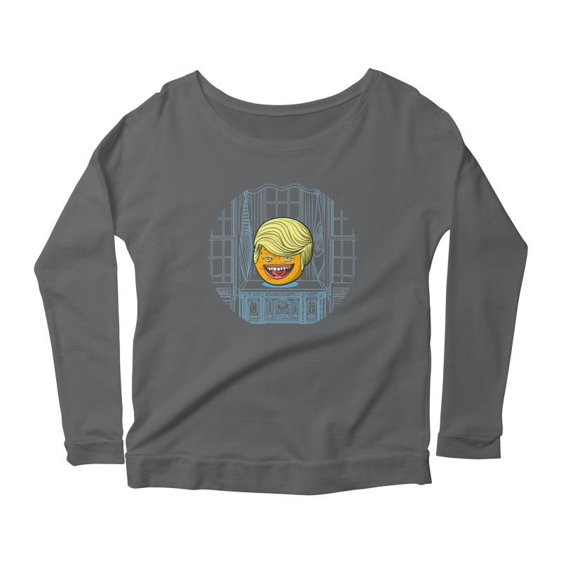 Annoying Orange in the White House Women's Longsleeve Scoopneck  by dZus's Artist Shop