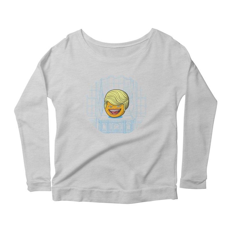 Annoying Orange in the White House Women's Scoop Neck Longsleeve T-Shirt by dZus's Artist Shop