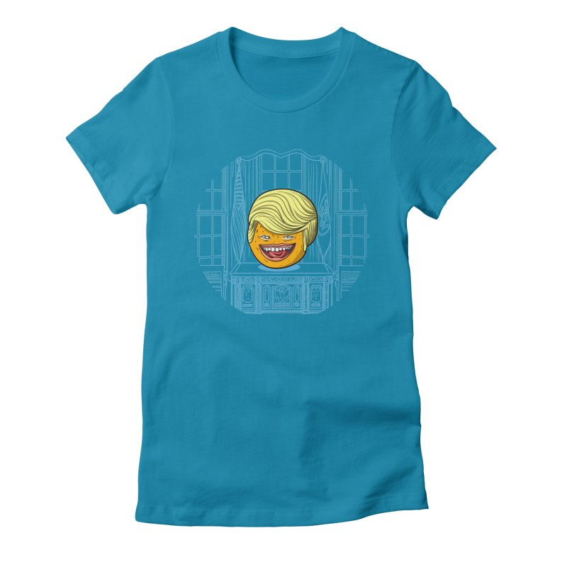 Annoying Orange in the White House Women's Fitted T-Shirt by dZus's Artist Shop