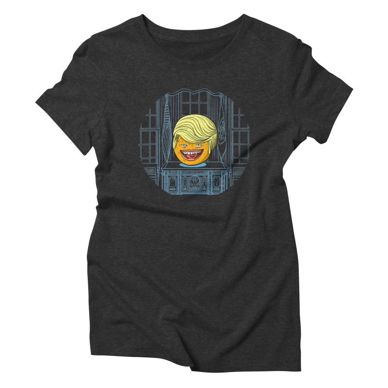 Annoying Orange in the White House Women's Triblend T-Shirt by dZus's Artist Shop