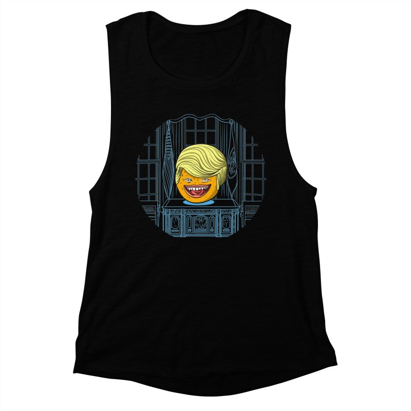 Annoying Orange in the White House Women's Muscle Tank by dZus's Artist Shop