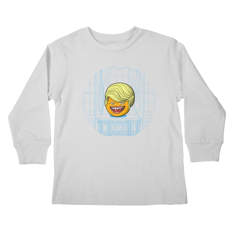 Annoying Orange in the White House Kids Longsleeve T-Shirt by dZus's Artist Shop