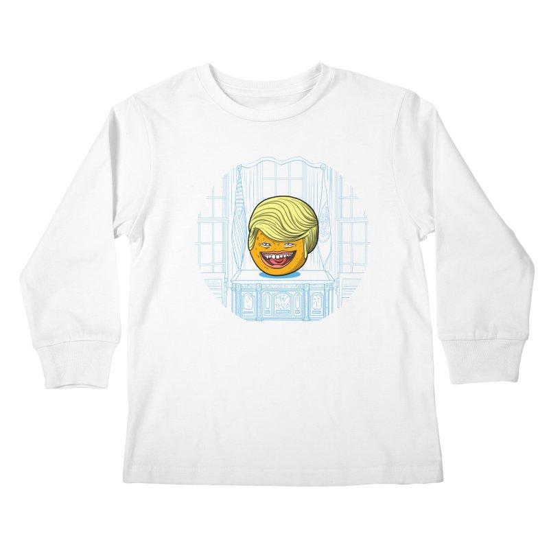 Annoying Orange in the White House Kids Longsleeve T-Shirt by dZus's Artist Shop