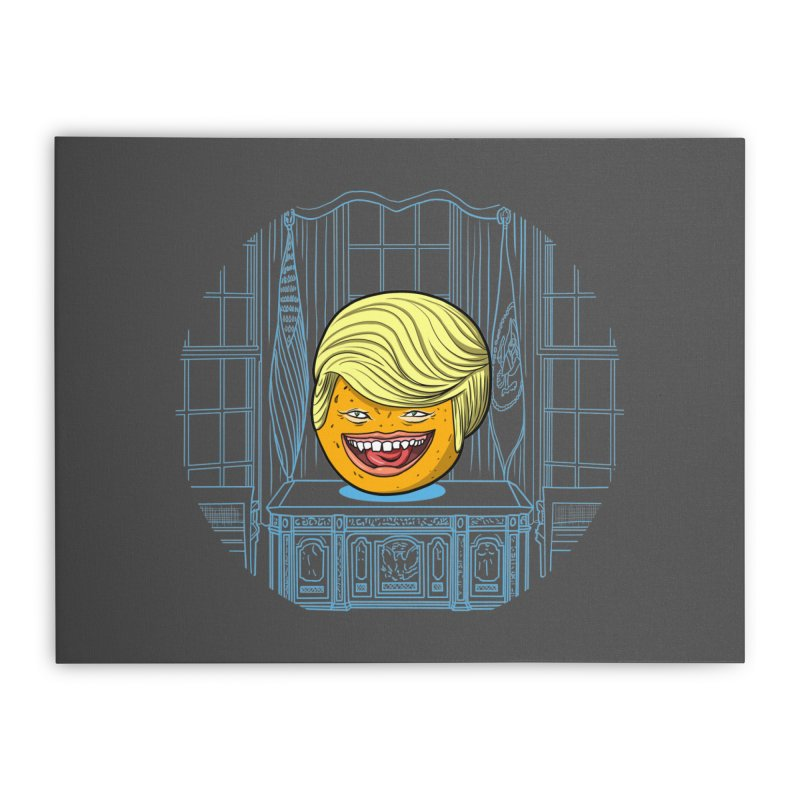 Annoying Orange in the White House Home Stretched Canvas by dZus's Artist Shop