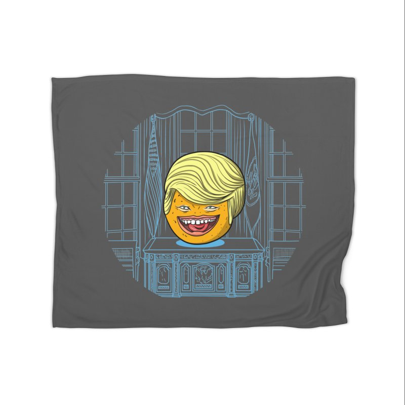 Annoying Orange in the White House Home Fleece Blanket Blanket by dZus's Artist Shop