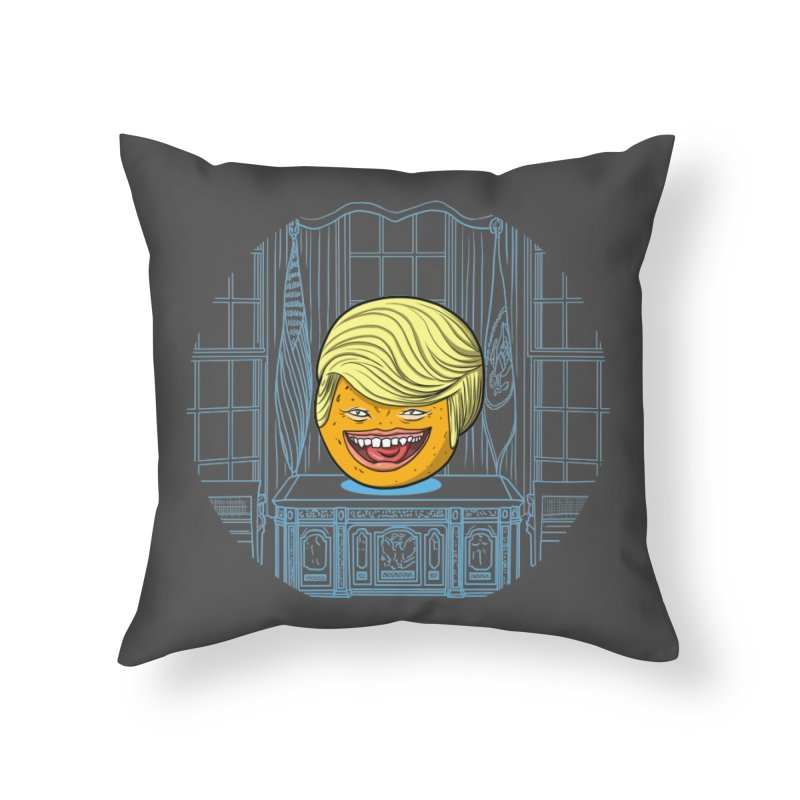 Annoying Orange in the White House Home Throw Pillow by dZus's Artist Shop