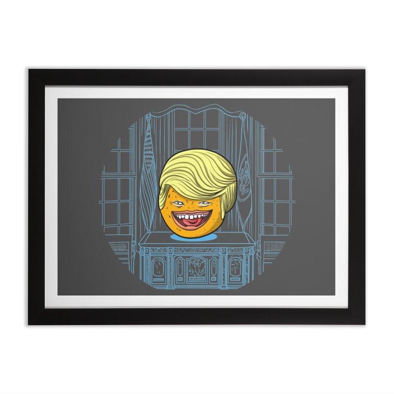 Annoying Orange in the White House Home Framed Fine Art Print by dZus's Artist Shop
