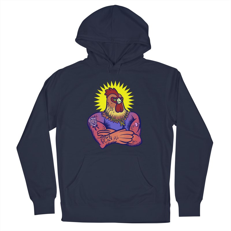 One Tough Bird Women's French Terry Pullover Hoody by dZus's Artist Shop