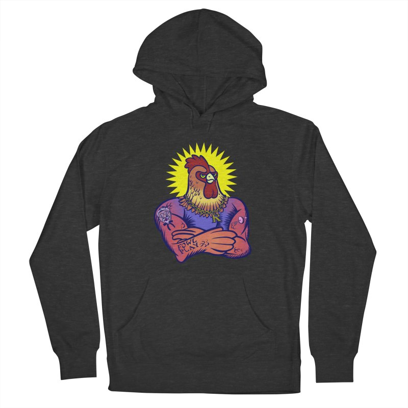 One Tough Bird Men's French Terry Pullover Hoody by dZus's Artist Shop