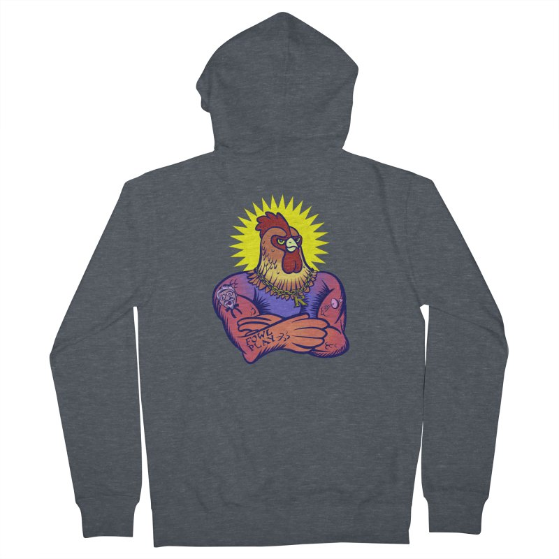 One Tough Bird Women's French Terry Zip-Up Hoody by dZus's Artist Shop
