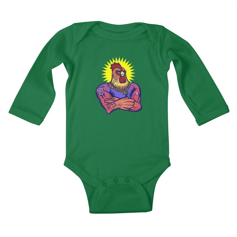 One Tough Bird Kids Baby Longsleeve Bodysuit by dZus's Artist Shop