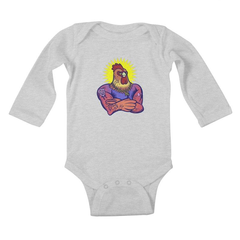 One Tough Bird Kids Baby Longsleeve Bodysuit by dZus's Artist Shop