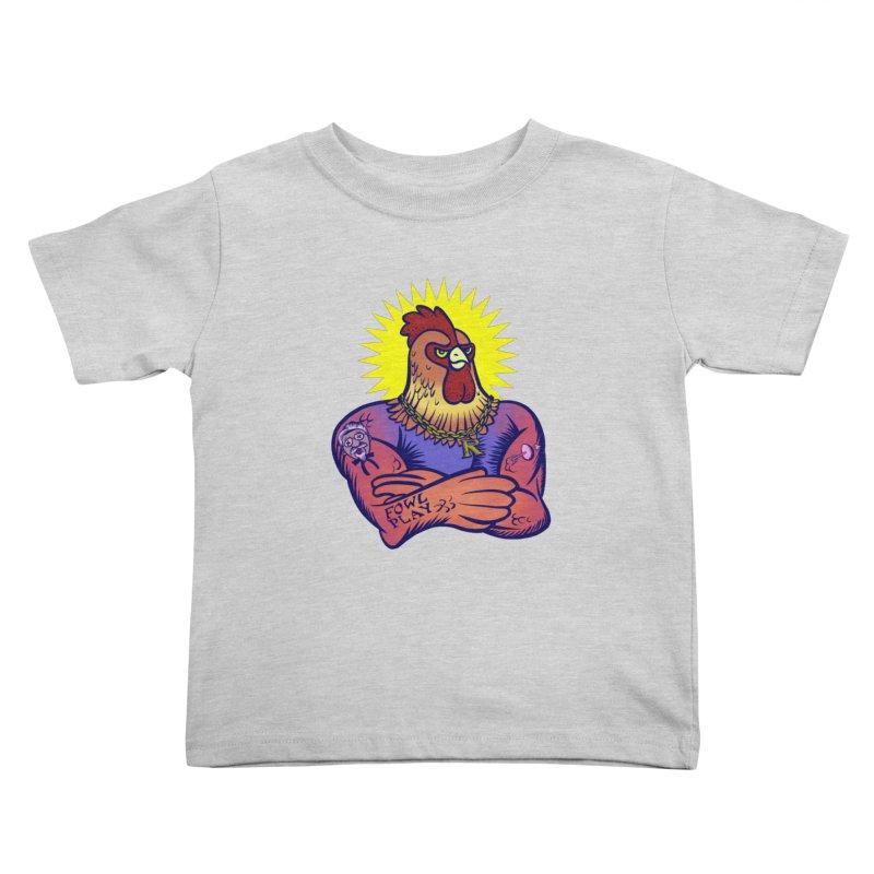 One Tough Bird Kids Toddler T-Shirt by dZus's Artist Shop