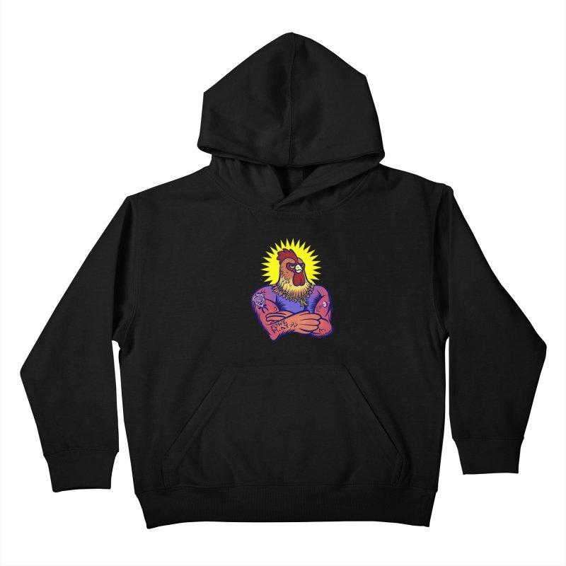 One Tough Bird Kids Pullover Hoody by dZus's Artist Shop