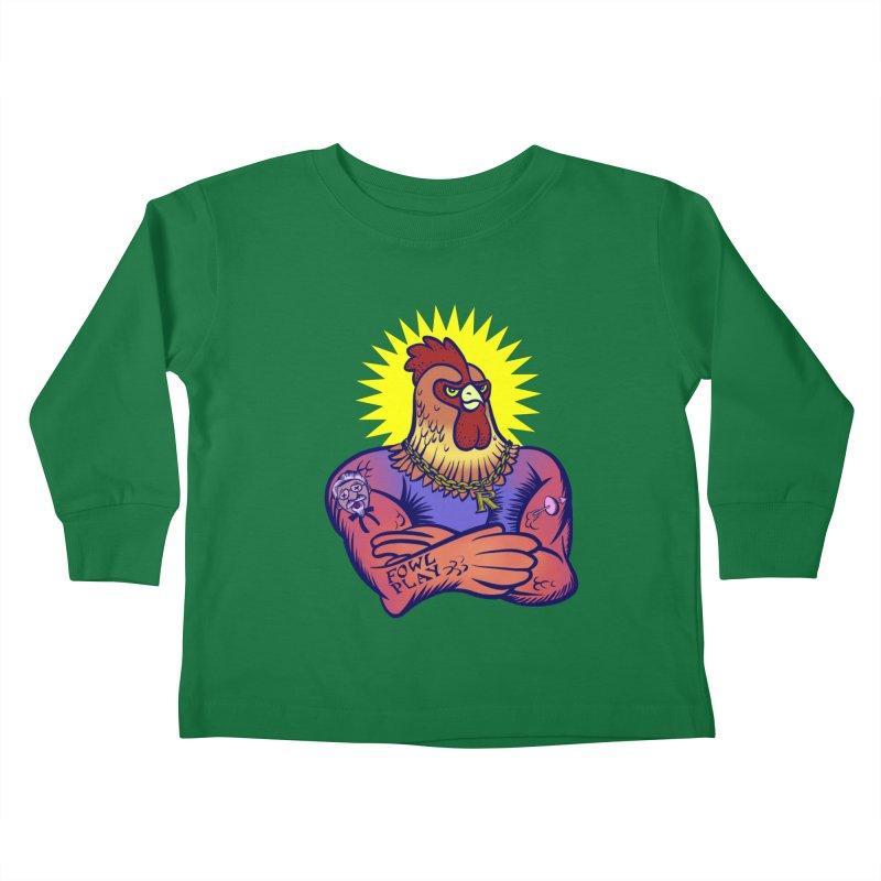 One Tough Bird Kids Toddler Longsleeve T-Shirt by dZus's Artist Shop