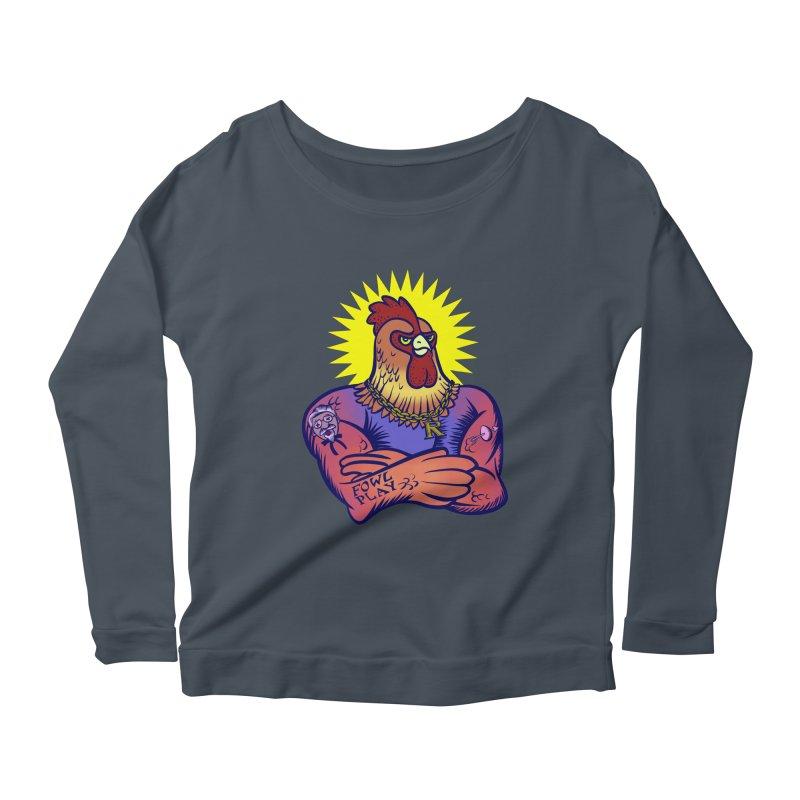 One Tough Bird Women's Scoop Neck Longsleeve T-Shirt by dZus's Artist Shop