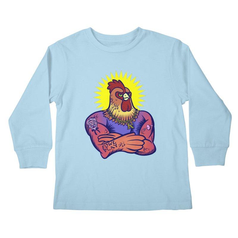 One Tough Bird Kids Longsleeve T-Shirt by dZus's Artist Shop