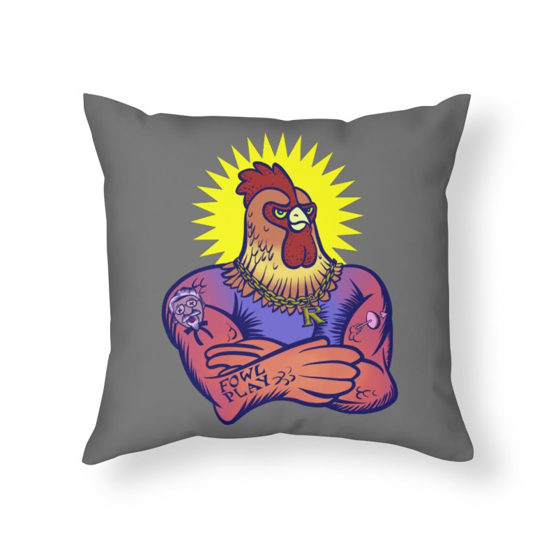 One Tough Bird Home Throw Pillow by dZus's Artist Shop