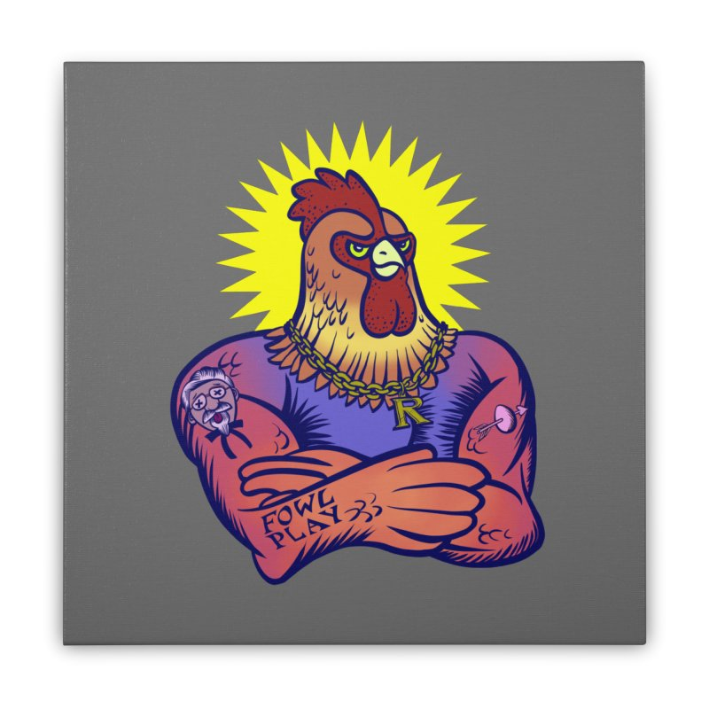 One Tough Bird Home Stretched Canvas by dZus's Artist Shop