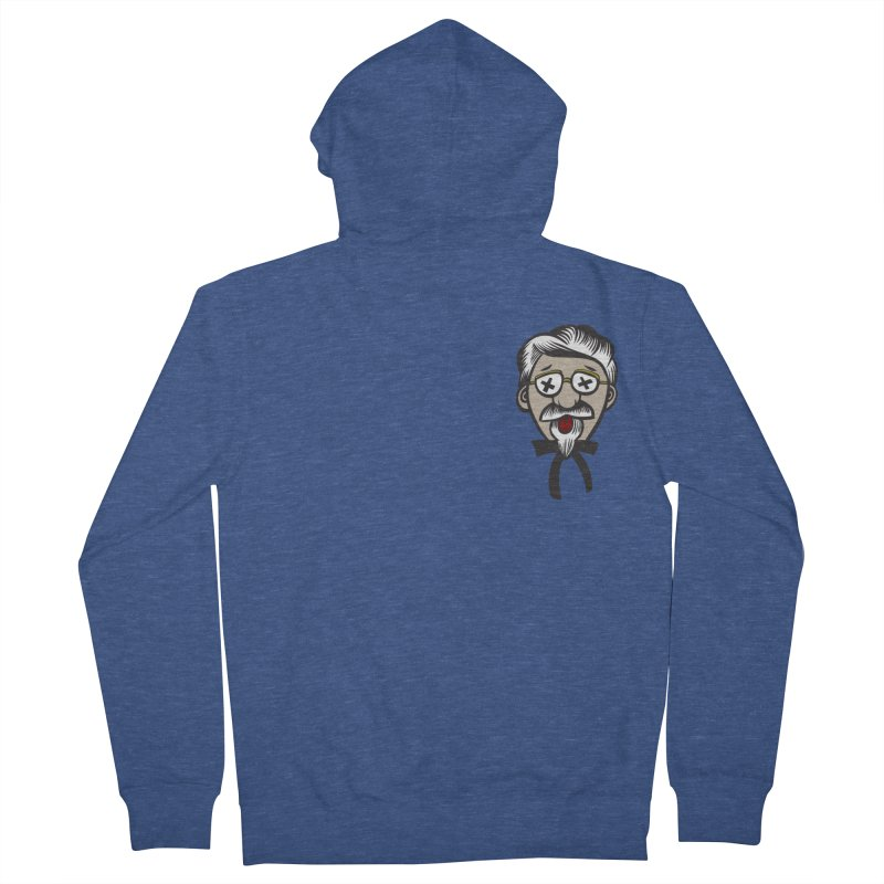 Fowl Play Men's French Terry Zip-Up Hoody by dZus's Artist Shop