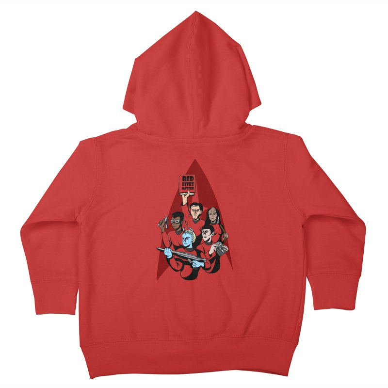 Redshirts Kids Toddler Zip-Up Hoody by dZus's Artist Shop