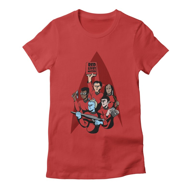Redshirts Women's Fitted T-Shirt by dZus's Artist Shop