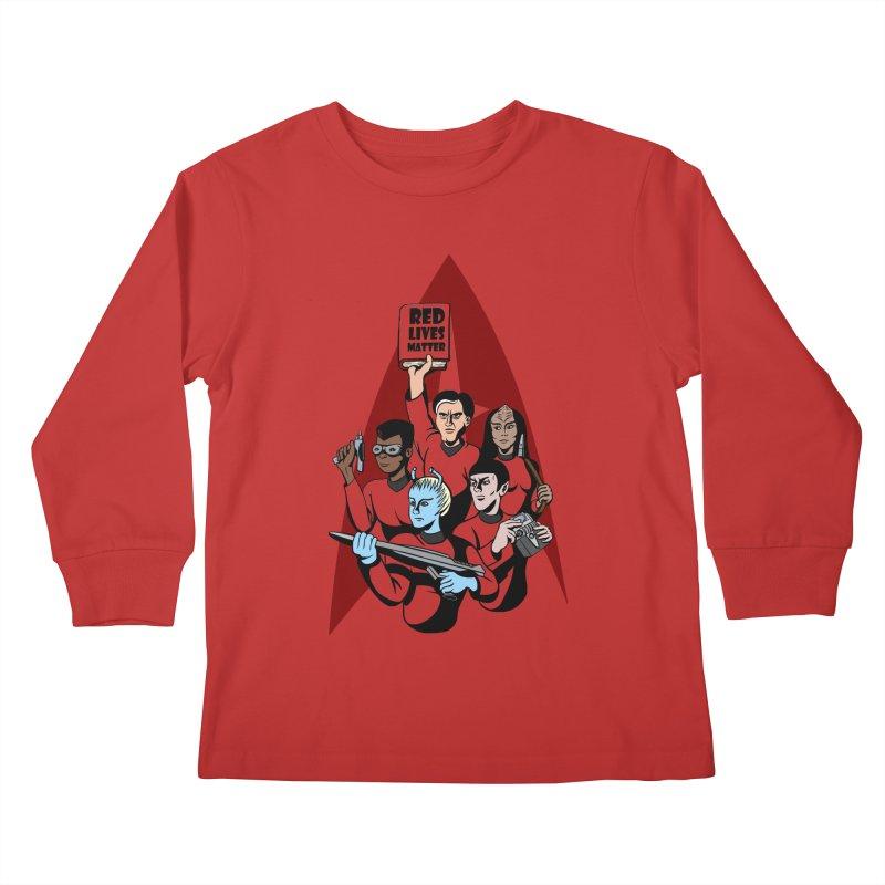 Redshirts Kids Longsleeve T-Shirt by dZus's Artist Shop