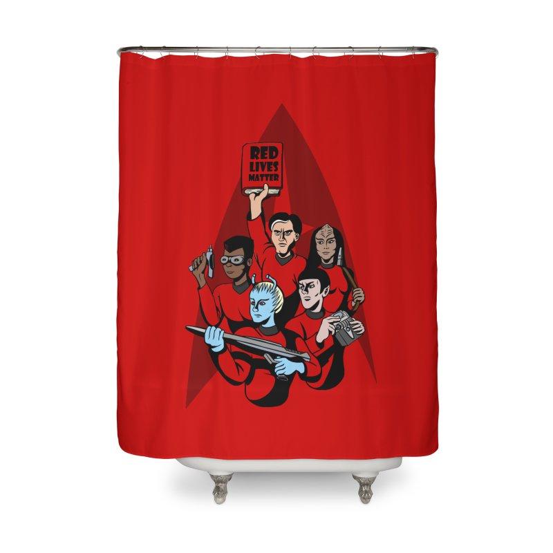 Redshirts Home Shower Curtain by dZus's Artist Shop