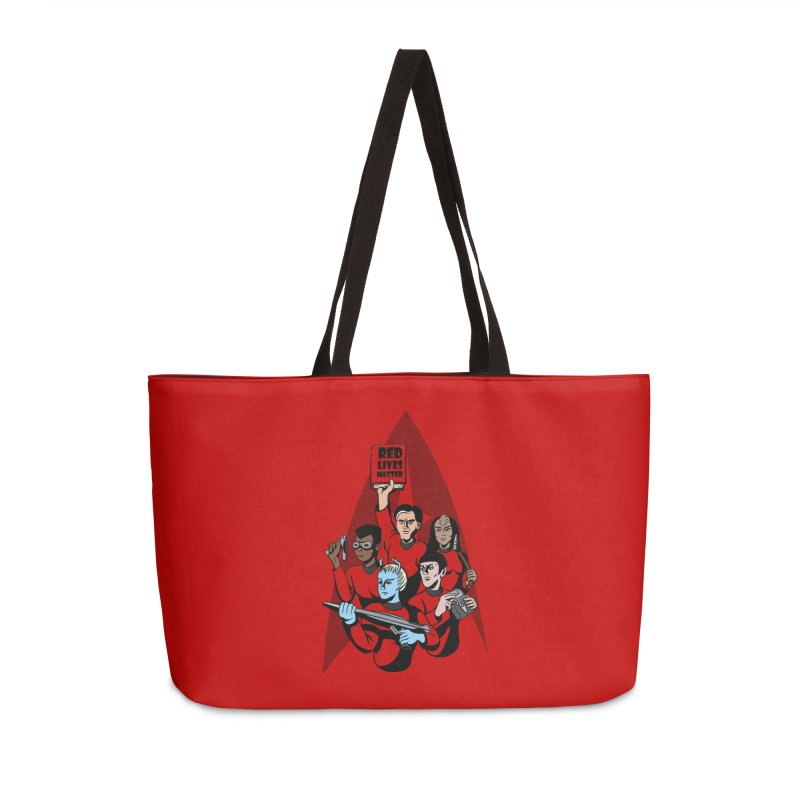 Redshirts Accessories Weekender Bag Bag by dZus's Artist Shop