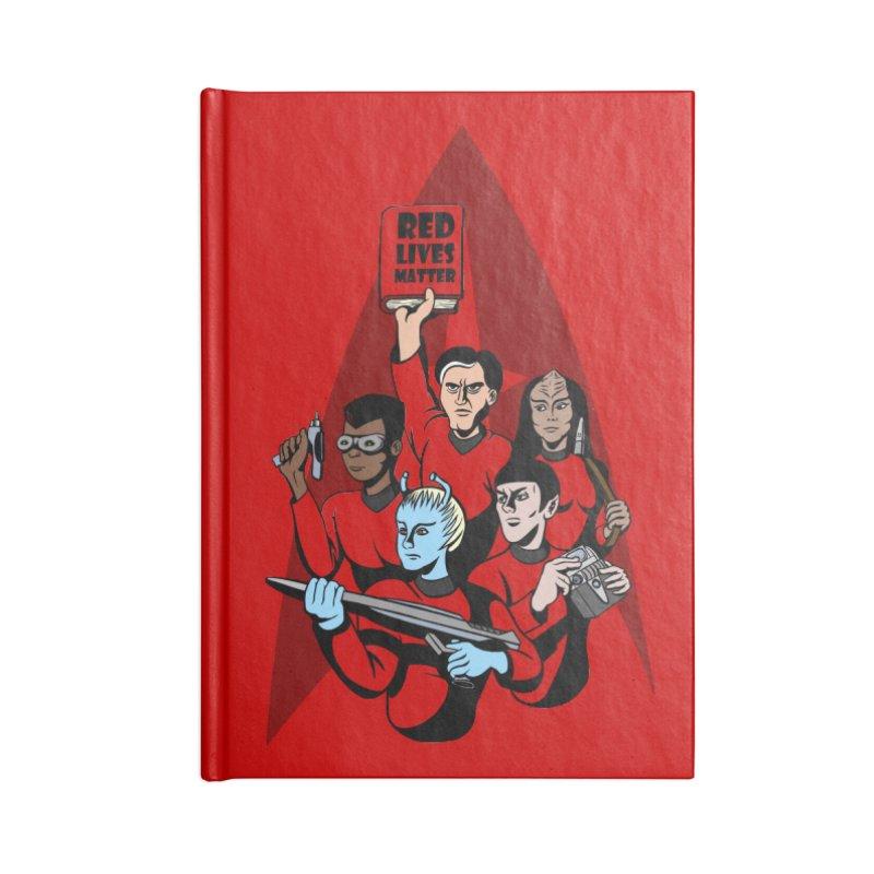 Redshirts Accessories Lined Journal Notebook by dZus's Artist Shop