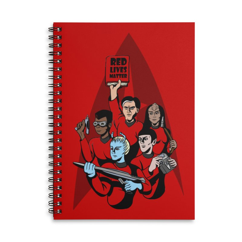 Redshirts Accessories Lined Spiral Notebook by dZus's Artist Shop