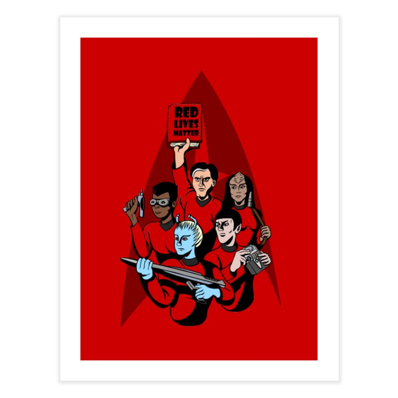 Redshirts Home Fine Art Print by dZus's Artist Shop