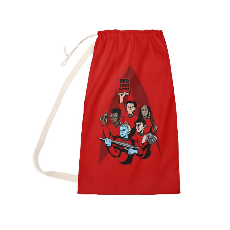 Redshirts Accessories Laundry Bag Bag by dZus's Artist Shop