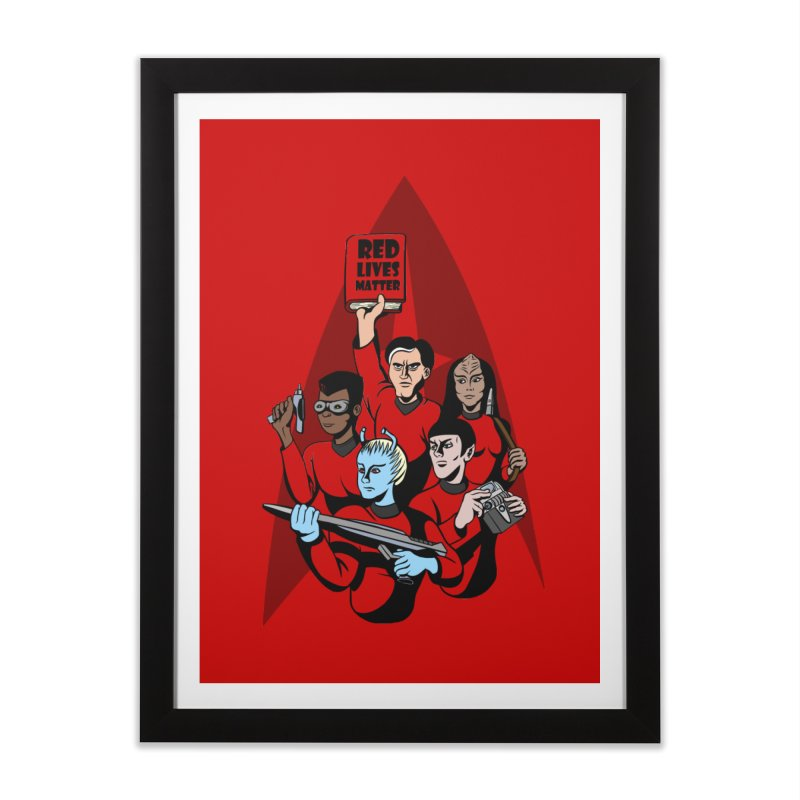 Redshirts Home Framed Fine Art Print by dZus's Artist Shop